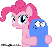 Pinkie Pie & Bloo by danspy1994