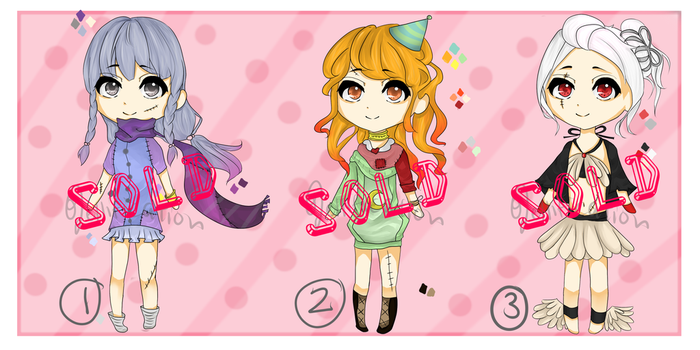 Adoptable Set #1 Name Your Price (CLOSED) by jellificationAdopts