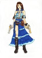 Lenne in disguise as Yuna by Sunfire249