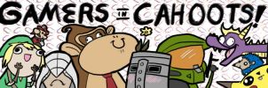 Commission: Gamers in Cahoots Banner by RomanJones