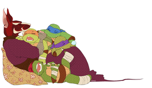 TMNT: Resting by student-yuuto