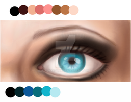 Bleu Eye-Practice by AliciaEvan