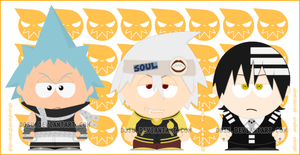 Soul Eater guys- South Park by Dosu