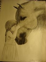 Girl and her horse by LiveLoveLaugh7142