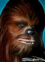 Chewbacca Sketch Card by RandySiplon