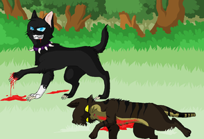 scourge vs tigerstar by cherohero