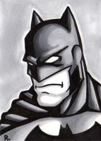 Batman Sketch Card by TheRigger