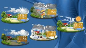 Countryside Clock Weather HQ for xwidget (FIXED) by jimking