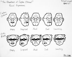 Captain Oldman and Rusty Ready - Face Expressions by ArtmasterRich