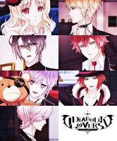 [Picspam] Diabolik Lovers by LuaKirazaki