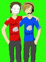 Bro's forever Pewdiepie and Cry! by PolkadotPanda06