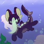 Daily paint: Tiny Fish Horse by FrackkinKraken