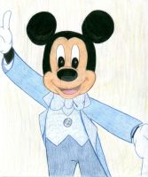 Mickey Mouse Drawing by Marebear-bear