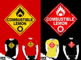 Combustible Lemon Warning Sign by R-evolution-GFX