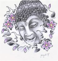 Buddha , tattoo design by graynd