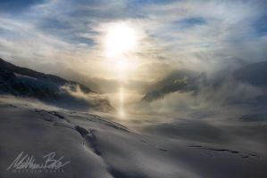 Frozen Desert - Bernese Alps by Bakisto