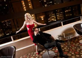 Six and Baltar - Battlestar Galactica by EveilleCosplay