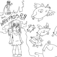 When Pigs fly. by nalem