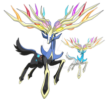 716 - Xerneas - Art v.5 by Tails19950
