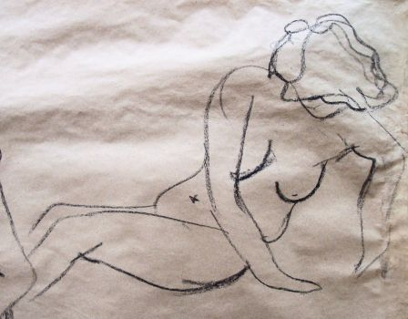 Nude Drawing by Lady-of-the-Cats