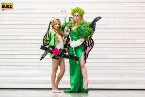 Mercedes and Queen Elfaria - Odin Sphere by Paper-Cube