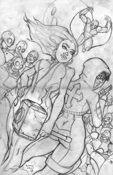 Lucero Pink Hammer Cover Pencils by SeanVHarley