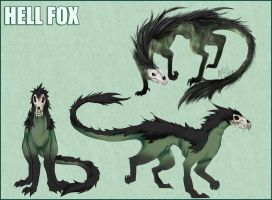 Hell Fox Character Sheet by Spoonful0fcats