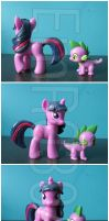 FOR SALE: Twilight Sparkle Custom G4 pony by EmR0304