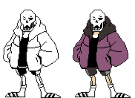 [SWAPFELL] Papyrus Battle sprites by RockmanThetis