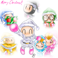 Bomberman Merry Christmas by SailorBomber