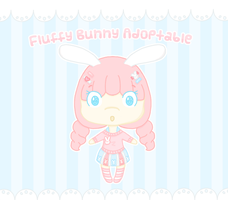 Fluffy Bunny Adoptable [CLOSED!] by Cupcake-Kitty-chan