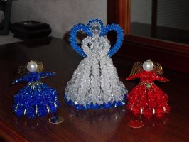 Beaded Angels by JeffrettaLyn