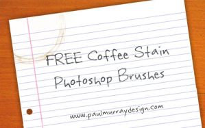 FREE Coffee Stain Brushes by bigoldtoe