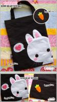 Bunny With Love Tote Bag by shiricki