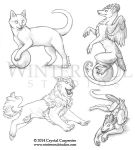 Previews - Cats, Shisa, and Dragons by soulofwinter