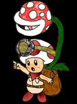Captain Toad + Potted Piranha Plant (Smash Bros.) by Plusle-Zap