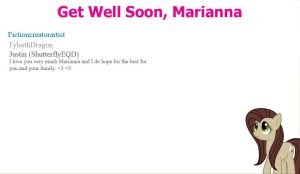 Get well soon, Marianna (Please sign and spread) by Fictioncreatorartist