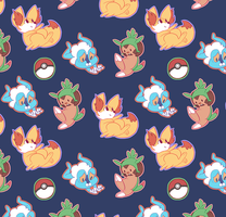 Pokemon Seamless Wallpaper by JamieKinosian