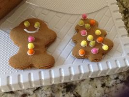 Gingerbread Man And Gingerbread Tree by G-oddess-On-Earth