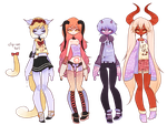 ( 120 - 123 ) (tsundere demons CLOSED) by Icee-tan