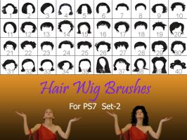 Hair_Wigs_Brushes_SET_2 by intenseone345
