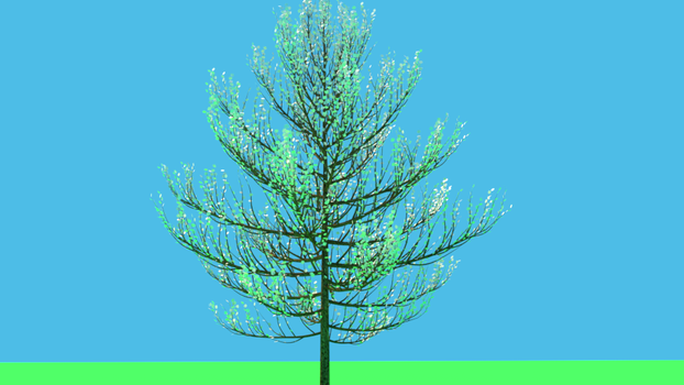 Realistic tree on a color background. by therealitydreamers