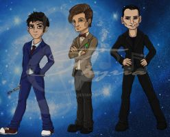 Doctor Who Chibis - Part I by Thyria