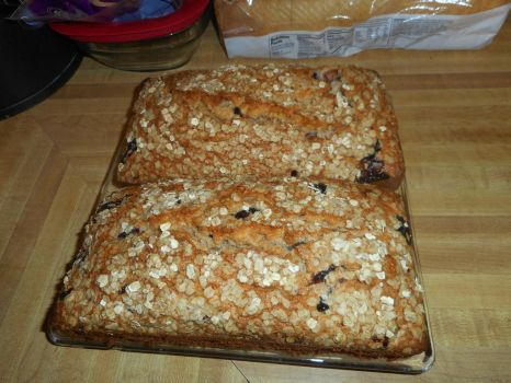 Blueberry Strawberry Oatmeal Bread by TNoire