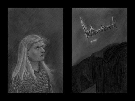 Eowyn and the Witch-King by MichaelHoweArts