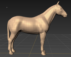 Mudbox Horse (in progress) by lunatteo