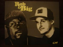 Rob and Big by Stencils-by-Chase