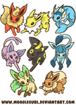 Eevee Evolutions by MoogleGurl