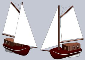 Sailboat made 3D by JasonXL