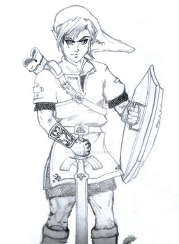 Link. The Legend Of Zelda. by Rizza-Blurian